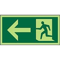 Photolum Sign 300x150 1mm Plastic Man Running & Arrow Left