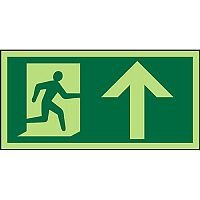 Photolum Sign 300x150 1mm Plastic Man Running Right & Arrow Up