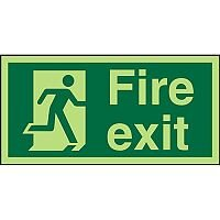 Photolum Sign 300x150 Plastic Fire Exit Man Running Right