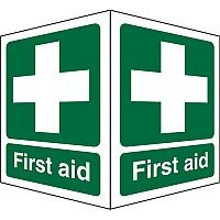 Protruding First Aid Sign 2 Faces 150x200 Each 1mm First Aid