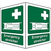Protruding FirstAid Sign 2 Faces Each Emergency Stretcher