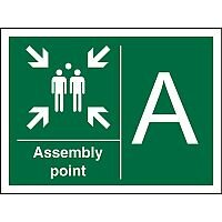 Safe Procedure Sign 600x400 Assembly Point A  Self Adhesive Vinyl
