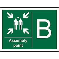 Safe Procedure Sign 600x400 Assembly Point B Self Adhesive Vinyl