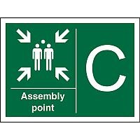 Safe Procedure Sign 400x300 1mm Plastic Assembly Point C Self Adhesive Vinyl