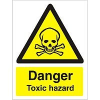 Warning Sign 300x400 1mm Plastic Danger - Toxic Hazard
