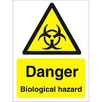 Warning Sign 300x400 1mm Plastic Danger - Biological Hazard