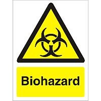 Warning Sign 300x400 1mm Semi Rigid Plastic Biohazard