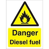 Warning Sign 300x400 1mm Plastic Danger - Diesel Fuel