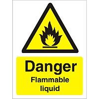 Warning Sign 300x400 1mm Plastic Danger - Flammable Liquid