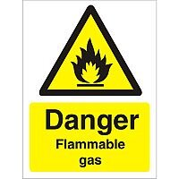 Warning Sign 300x400 1mm Plastic Danger - Flammable Gas