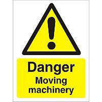 Warning Sign 300x400 1mm Plastic Danger - Moving Machinery