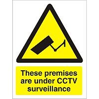 Warning Sign 300x400 1mm Plastic These Premises Under CCTV