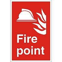 Stewart Superior Warehouse Signs 600x400 1mm Semi Rigid Plastic - Fire point