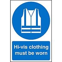 Stewart Superior Warehouse Signs 600x400 1mm Semi Rigid Plastic - Hi-vis clothing must be worn