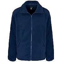 Supertouch Basic Fleece Jacket with Elasticated Cuffs and Full Zip Front XXXXLarge Navy Ref 59097