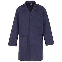 Supertouch Lab Coat Polycotton with 3 Pockets XXLarge Navy Ref 57015