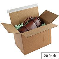 Blakes Packing Cardboard Boxes Peel & Seal 400x260x250mm Kraft (Pack of 20)