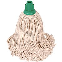 Robert Scott & Sons Socket Mop Head for Smooth Surfaces PY 16oz Green Ref PJYG1610 [Pack 10]