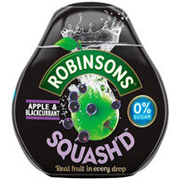 Robinsons Squash'd 66ml No Added Sugar Apple and Blackcurrant Pack of 6