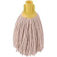 Robert Scott & Sons Socket Mop Heads for Smooth Surfaces PY 12oz Yellow Ref PJYL1210 [Pack 10]