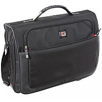 Gino Ferrari Titan Messenger Laptop Bag Compartment Nylon 17'' Black
