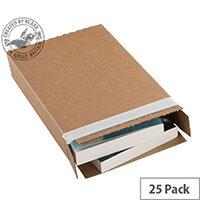 Blakes Slimline Postal Boxes Peel & Seal 346x243x46mm Kraft Pack of 25