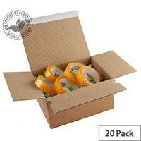 Blakes Packing Cardboard Boxes Peel & Seal 230x160x80mm Kraft (Pack of 20)