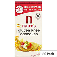 Nairns Gluten Free Oatcakes Crackers Pack of 60