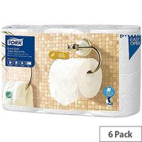 Tork Extra Soft Premium Toilet Roll 3-ply White Ref 110318 [Pack 6]