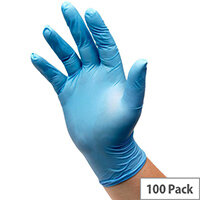 Vinyl Powdered Gloves Small Blue Pack of 100