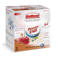 UniBond Power Tab 300g Pearl Moisture Absorber Scented 3-in-1 Refill Tab Fruit Sensation Pack of 2 Tablets