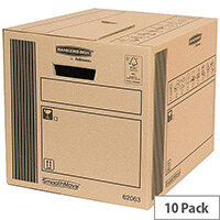Fellowes Classic Storage Packing Cardboard Boxes 320x320x400mm (Pack of 10)