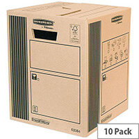 Fellowes Classic Cargo Storage Packing Cardboard Boxes 300x370x 300mm (Pack of 10)