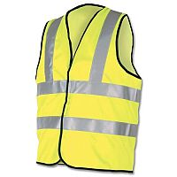 Dealer Workwear 2XL High Visibility Vest Polyester 2Extra Large Yellow DWHVYL