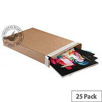 Blakes Slimline Postal Cardboard Boxes Peel & Seal 240x165x46mm Kraft Pack of 25