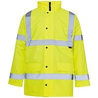 Supertouch High Visibility Standard Parka Jacket with 2-Way Zip Fastening XXXXLarge Yellow Ref 35427