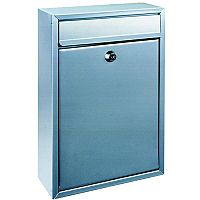 Mail Box Front-loading Rustproof 2 Keys Silver