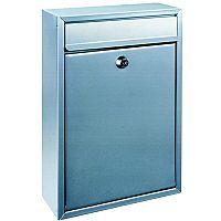 Mail Box Front-loading Rustproof 2 Keys Silver