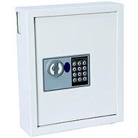 Electric Key Safe Programmable Lock Wall Mounted with Fixing Kit 64 Keys 9kg