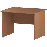 Rectangular Panel End Office Desk Beech W1000xD800mm
