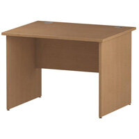Rectangular Panel End Office Desk Oak W1000xD800mm
