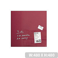 Sigel Magnetic Glass Board Artverum 480x480x15mm Berry Red GL272