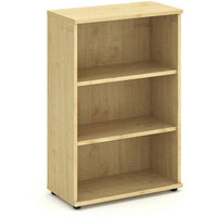 Medium Bookcase with 2 Shelves H1200mm Maple