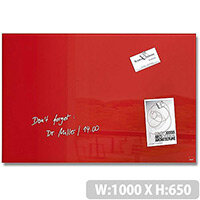 Sigel Magnetic Tempered Glass Board Artverum 1000x650x15mm Red GL142