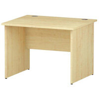 Rectangular Panel End Office Desk Maple W1000xD800mm