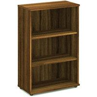 Medium Bookcase with 2 Shelves H1200mm Walnut