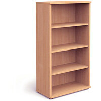 Tall Bookcase with 3 Shelves H1600mm Beech