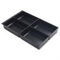 Bisley Black Insert Tray for Storage Cabinet 4 Sections 227P1