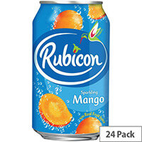 Rubicon 330ml Mango Flavoured Soft Drink Can Pack of 24