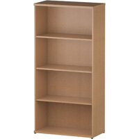 Tall Bookcase with 3 Shelves H1600mm Oak